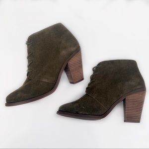 JESSICA SIMPSON Leather Booties | Green | 6